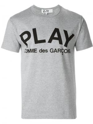 Футболка с принтом Comme Des Garçons Play. Цвет: серый
