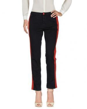 Повседневные брюки HISTORY. Цвет: черный