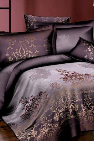 Постельное белье евро 50x70 Patrizia. Цвет: коричневый