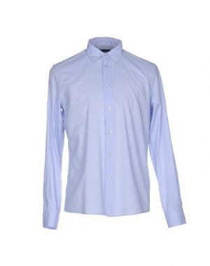 Pубашка BLAUER. Цвет: небесно-голубой