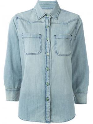 Джинсовая рубашка Sandrine Rose. Цвет: синий