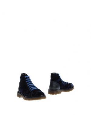 Полусапоги и высокие ботинки KOWALSKI. Цвет: темно-синий