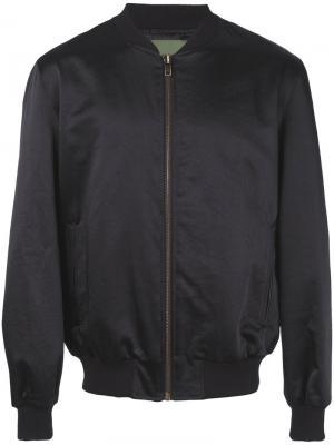 Декорированная куртка-бомбер  A-Men Amen. Цвет: чёрный