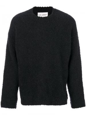 Классический трикотажный свитер Our Legacy. Цвет: серый