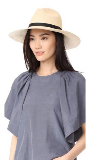 Шляпа Clasico с широкими полями Artesano. Цвет: натуральный/черный