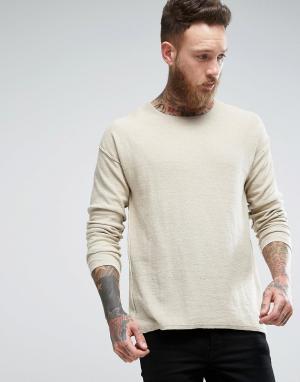 Nudie Jeans Топ из переработанной джинсовой ткани Co Tomas. Цвет: бежевый