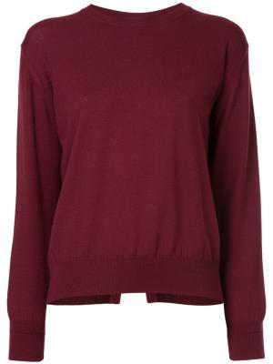 Пуловер с круглым вырезом Astraet. Цвет: красный