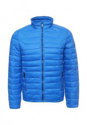 Куртка утепленная Fresh Brand. Цвет: голубой