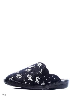 Тапочки Белста. Цвет: черный, белый