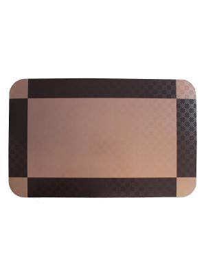 Плейсмат набор 4шт, принт Коричневая салфетка, ПВХ Dorothy's Нome. Цвет: коричневый, темно-коричневый