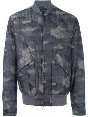 Куртка-бомбер с камуфляжным принтом Helmut Lang. Цвет: зелёный