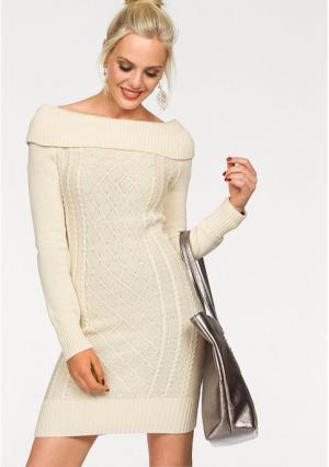 Платье MELROSE. Цвет: кремовый, черный