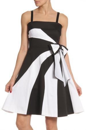 Платье Maria Grazia Severi. Цвет: черный, белые вставки