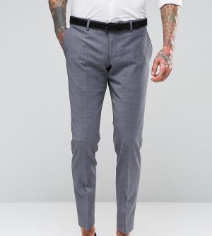 Number Eight Savile Row Стретчевые меланжевые брюки зауженного кроя на свадьбу Sa. Цвет: серый