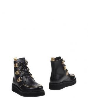 Полусапоги и высокие ботинки LEQARANT. Цвет: черный