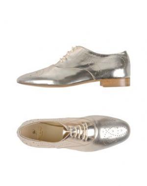 Обувь на шнурках PREZIOSO. Цвет: платиновый
