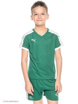 Футболка Pitch Shortsleeved Shirt Puma. Цвет: зеленый