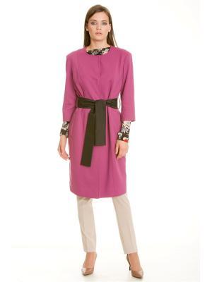 Пальто Levall. Цвет: лиловый, розовый