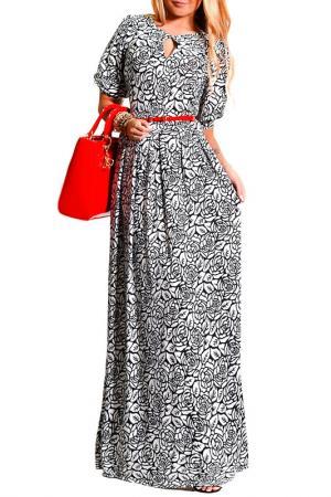 Платье LASKANY collezioni. Цвет: стальной, роза