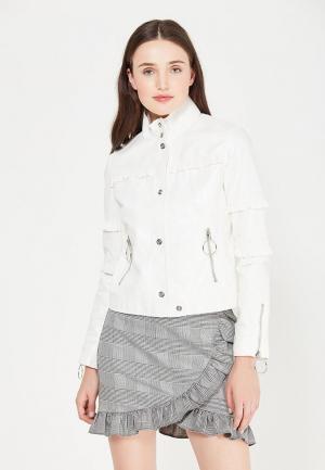 Куртка кожаная Mango. Цвет: белый