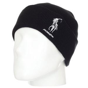 Шапка  Polo Reaper Beanie Black Foundation. Цвет: черный