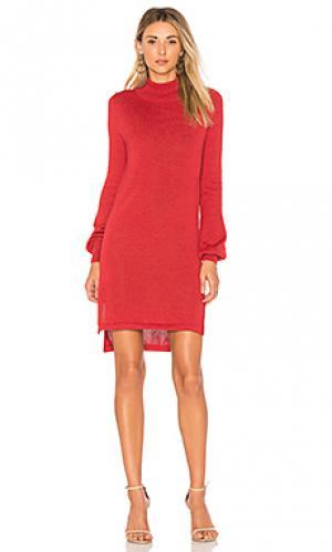 Вязаное платье с воротником водолазка onyx AYNI. Цвет: тёмно-оранжевый
