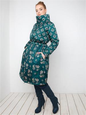 Пальто MAYAMODA. Цвет: зеленый, темно-зеленый