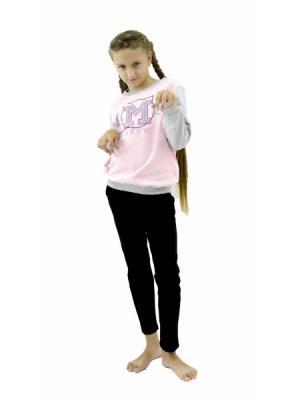 Свитшот РОССИЙСКИЙ ТРИКОТАЖ. Цвет: бледно-розовый, серый меланж