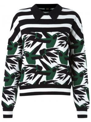 Pattern knit blouse Gig. Цвет: зелёный