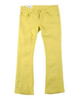 Джинсовые брюки DONDUP DQUEEN. Цвет: желтый