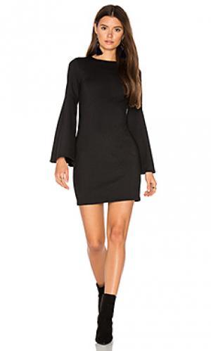 Платье с рукавами-колоколами Eight Sixty. Цвет: черный