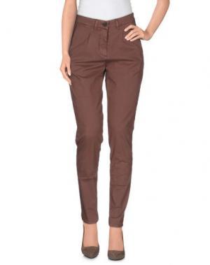Повседневные брюки INX #THINK COLORED. Цвет: какао