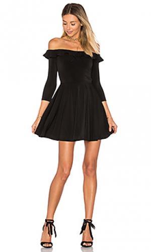 Платье gabbie Lovers + Friends. Цвет: черный