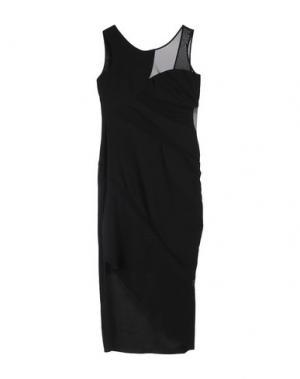 Платье длиной 3/4 HANITA. Цвет: черный
