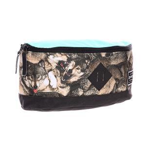 Сумка поясная  Crescent Hip Pack 10l Wolf Dakine. Цвет: голубой,черный,мультиколор
