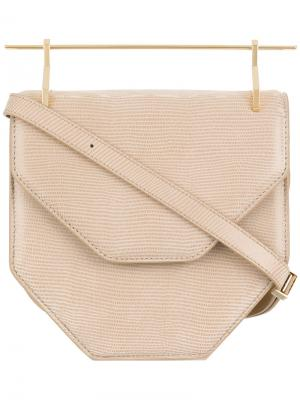 Amor Fati shoulder bag M2malletier. Цвет: телесный