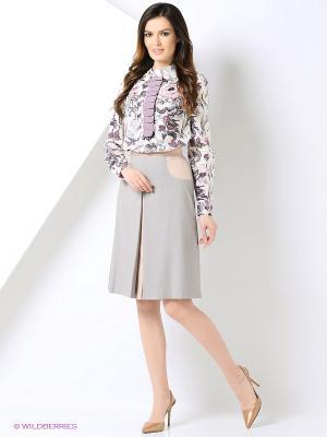Блузка Cleo Katya Erokhina. Цвет: белый, голубой, сиреневый, розовый