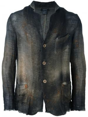 Блейзер с накладными карманами Avant Toi. Цвет: зелёный