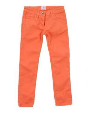 Джинсовые брюки MAURO GRIFONI KIDS. Цвет: оранжевый
