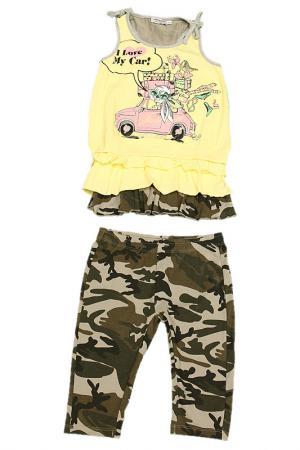 Комплект: футболка и леггинсы Olimpias. Цвет: желтый
