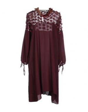 Платье до колена ANGELA MELE MILANO. Цвет: баклажанный