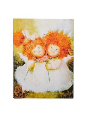 Картина Неразлучные Artangels. Цвет: белый, оранжевый, розовый