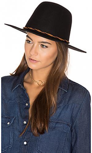 Шляпа dallas Brixton. Цвет: черный