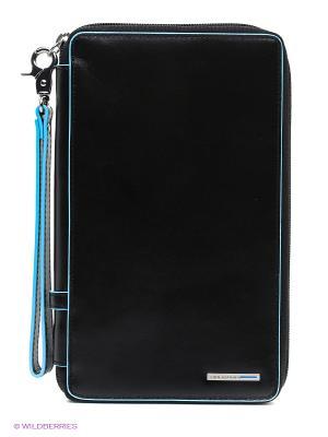 Мульти-портмоне на молнии PIQUADRO. Цвет: черный
