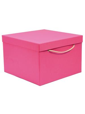 Коробка картонная 30х30х20 см VELD-CO. Цвет: лиловый, розовый