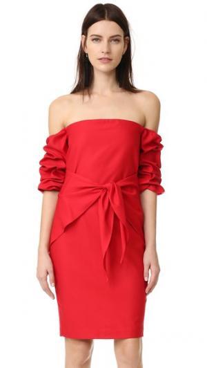 Платье Rory Amanda Uprichard. Цвет: губная помада