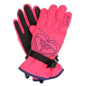 Перчатки сноубордические женские  Popi Gloves Paradise Pink Roxy. Цвет: розовый