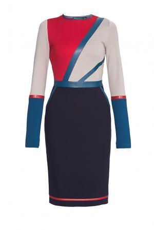 Трикотажное платье из хлопка 177615 Paola Morena. Цвет: разноцветный