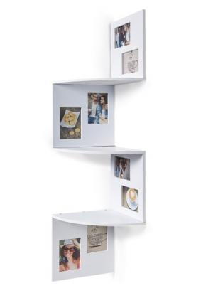 Угловая полка с рамками для фотографий (белый) bonprix. Цвет: белый