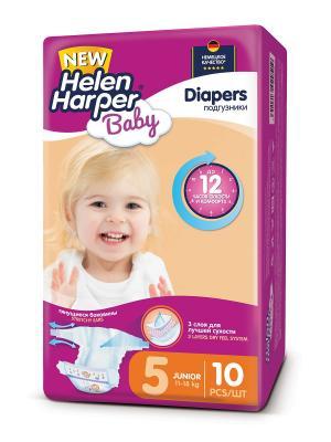 Подгузники Junior 11-18 кг. (10 шт.)/15 HELEN HARPER BABY. Цвет: фиолетовый